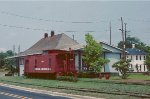Seaboard depot and A&R caboose