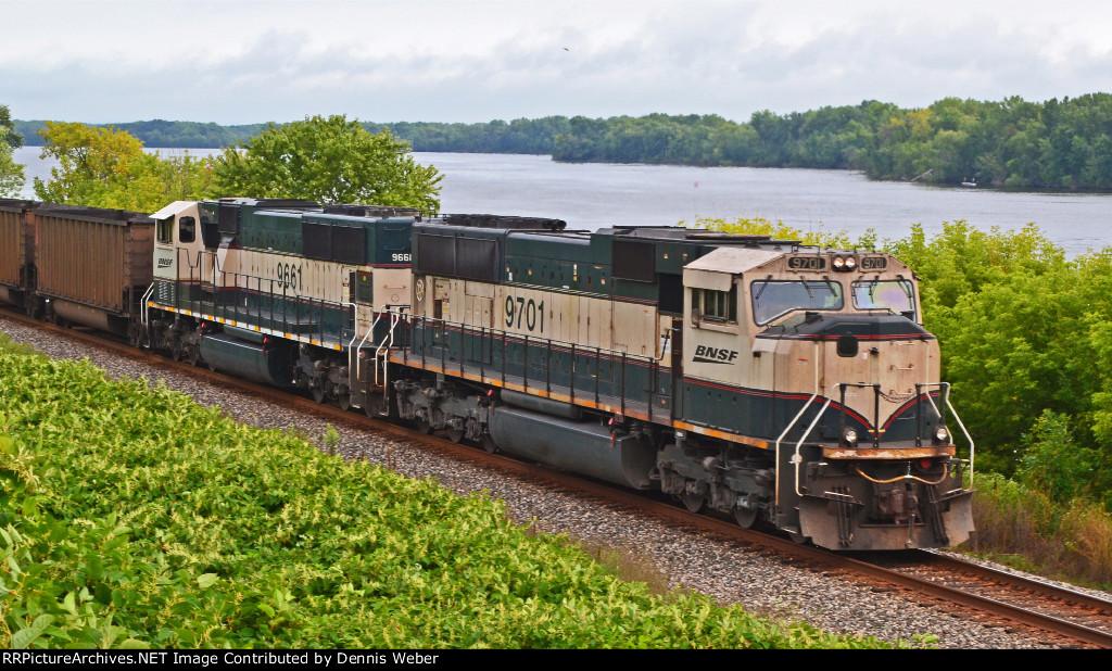 BNSF 9701  CP  River Sub.