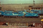 CR SD45-2 6664 and SW-1001 9506