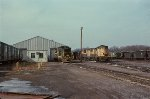 Abrams engine and freight car maintenance facility in February, 1977