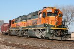 BNSF 6719 & 8040 awaits a crew at SE 15th & Shields Blvd
