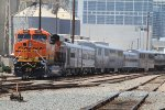 Fresh out of the paint shop, BNSF 6967 gets the lucky job of powering a golf BNSF junket