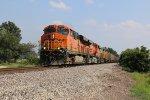 BNSF 6428 Rolls a empty coal toward the Gibbs siding.