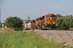 BNSF 8157 Drags a 4 unit H-GALMEM out of Old Monroe Mo.
