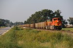 BNSF 8416 Newer Ace stretches out with a loaded coal drag.