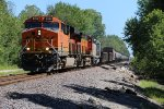 BNSF 8356 Newer C4 leads a H-TULGAL toward Old Monroe Mo.