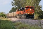 BNSF 8590 Roars down the K Line kicking up dust.