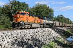BNSF 6005 Heads up a empty coal drag up the K Line.