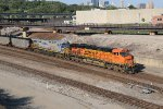 BNSF 6116 Leads a loaded coal drag onto the Fort Scott Sub.