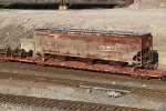 BNSF 496103 Wrecked BNSF hopper.