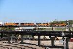 BNSF 8192 Drags Orange Ge's toward Kc Mo.