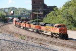 BNSF 9210 Leads a nice lash up of Aces on a empty coal.