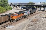 BNSF 6637 Heads up a freight down the Fort Scott Sub.