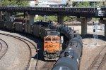 BNSF 9363 Dpu on a empty coal train.