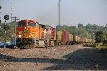 BNSF 5179 Heads up a Sb fertilizer train.