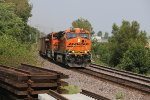 BNSF 5802 Swings the curve into Old Monroe