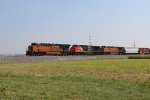BNSF 8218 Heads a TULGAL up the K Line.