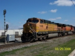 Faded paint on BNSF 5388 leading NS train 219