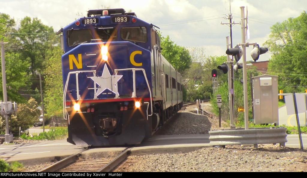 RNCX 1893 Leading Amtrak 74 into Durham, NC