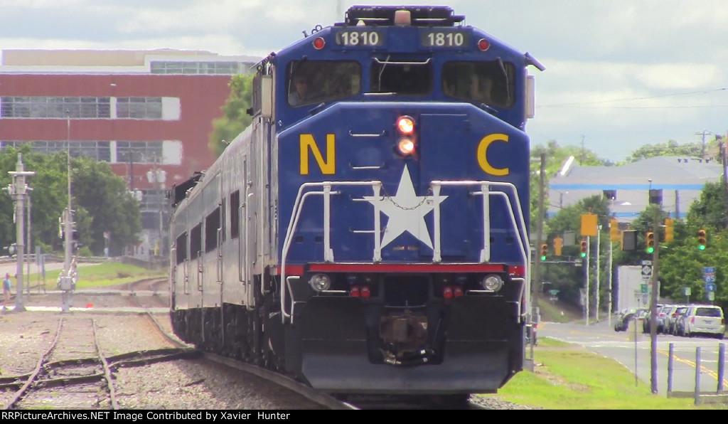 RNCX F59PH 1810 City Of Greensboro Leading Amtrak 75 Into Durham, NC