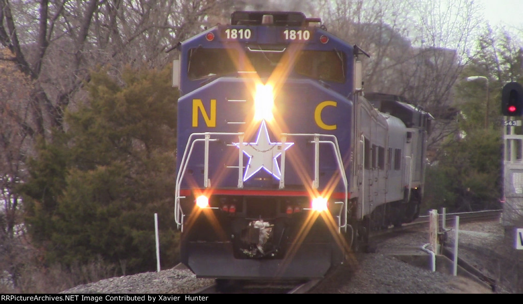 RNCX EMD F59PH 1810 arriving in Durham, NC on Amtrak Piedmont Train 74