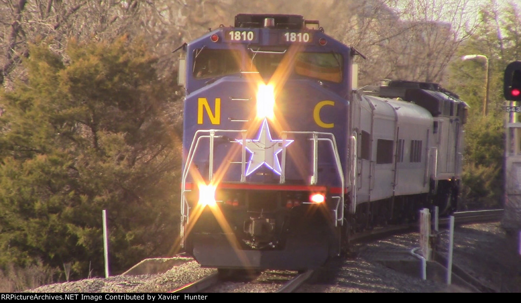 RNCX EMD F59PH 1810 Arriving into Durham, NC on Amtrak Piedmont Train 74