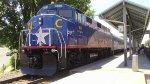 "RNCX F59PH 1869 ""City of Durham"" Leading Amtrak 74 in Durham, NC"