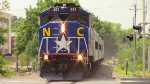 RNCX 1893 Leading Amtrak Piedmont Train 74 into Durham, NC