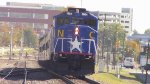 RNCX EMD F59PH 1984 Leading Amtrak Piedmont Train 75 into Durham, NC