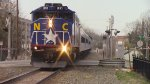 RNCX EMD F59PH 1893 leading Amtrak Piedmont Train 74 into Durham, NC
