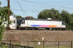 NJ Transit ALP-46 4652 pushes a line of commuter cars on the NEC
