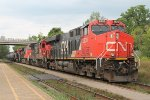 Eastbound mixed freight starts the cimb uphill