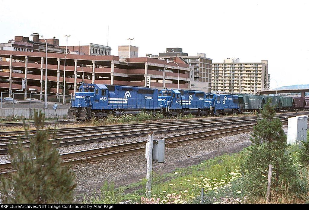 CR SDP45 6683, SD40-2 6396, and U30B 2872