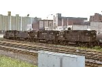 CR SD35 6003, C628 6728, and C425's 2423 and 2418