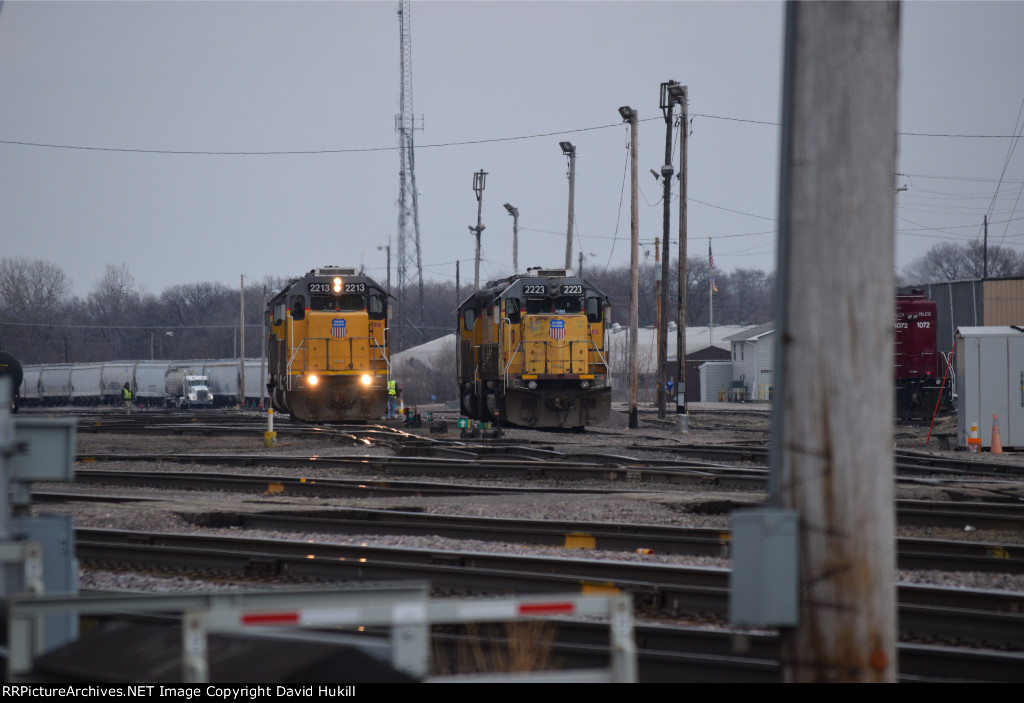 UP Engines 2213 2223, Des Moines IA