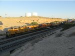 UP 8112 leading a train into Yuma Yard