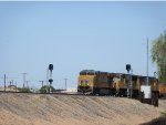 UP 8024 splitting the signals at Yuma Arizona Yard