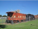ATSF Steam Engine and Caboose