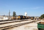 CSX SD40-2 8060, SD50-2 8666, and UP ES44AC 7413