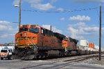 BNSF 7839 leads NB intermodal