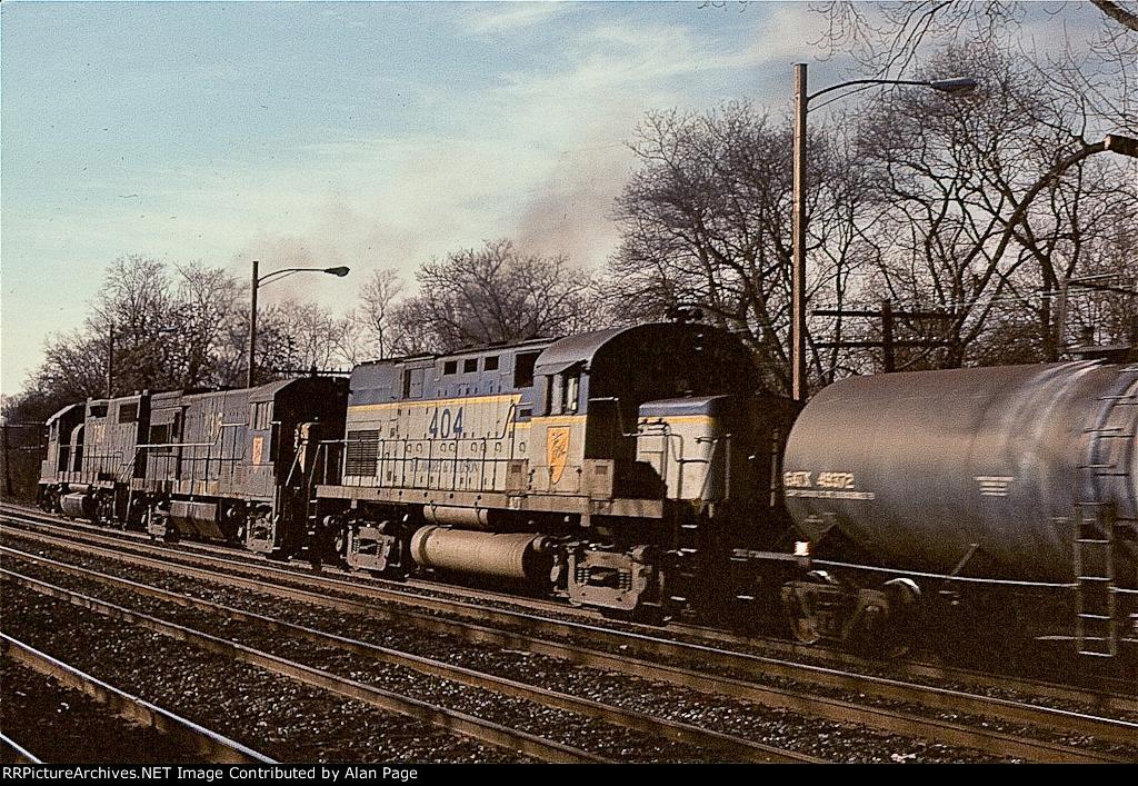 D&H GP38-2 7314, U23B 2316, and C420 404