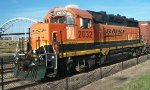 BNSF 2032, cab and conductor's side view
