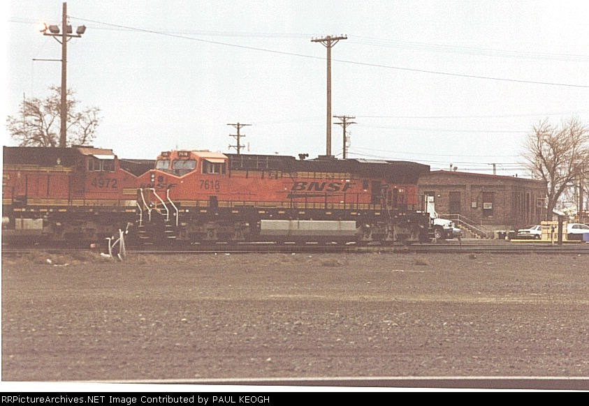 BNSF 7618 in the fuel pits