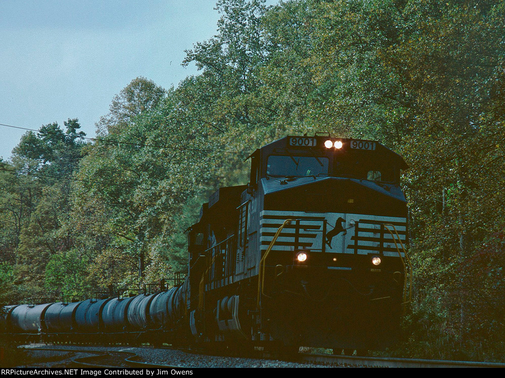 NS train #W78 is approaching Saluda for a run down the grade.