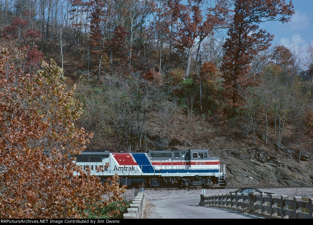 Southbound Amtrak powered excursion on the old Clinchfield.