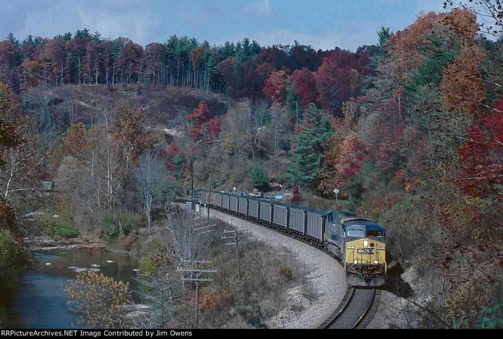 CSX southbound coal train.