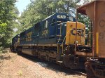 CSX SD50-2's 8639 and 2474