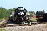 NS 3394 tied down in SK Yard with the End of Train Device on the engine