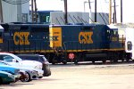 CSX 2380 switching in Frontier North Part of yard