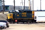 CSX 6980 switching in Frontier North Part of yard